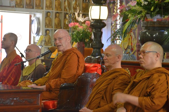 Venerable Ajahn Sumedho speaking at CTTB